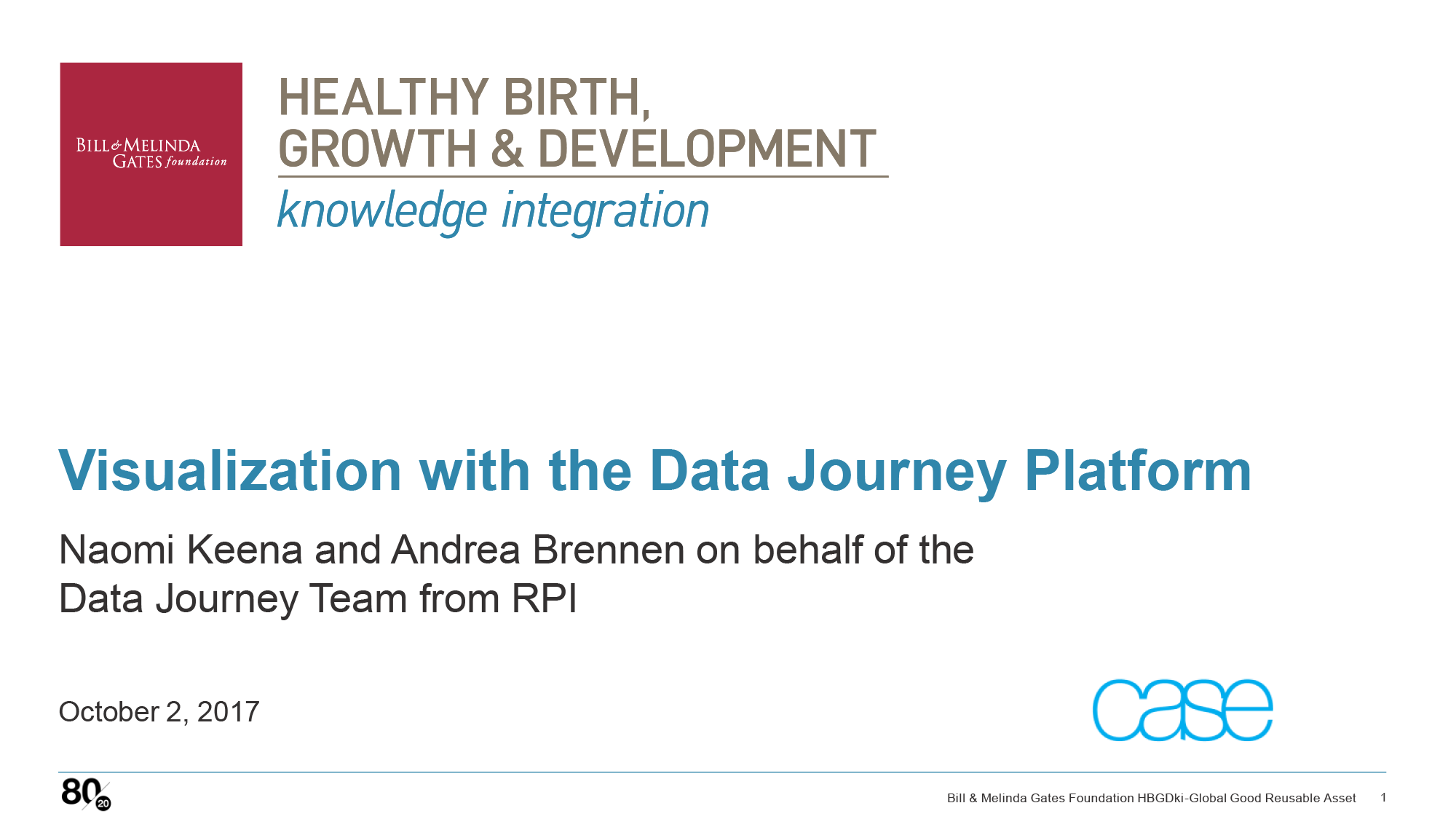 Data Journey Platform Presentation Cover