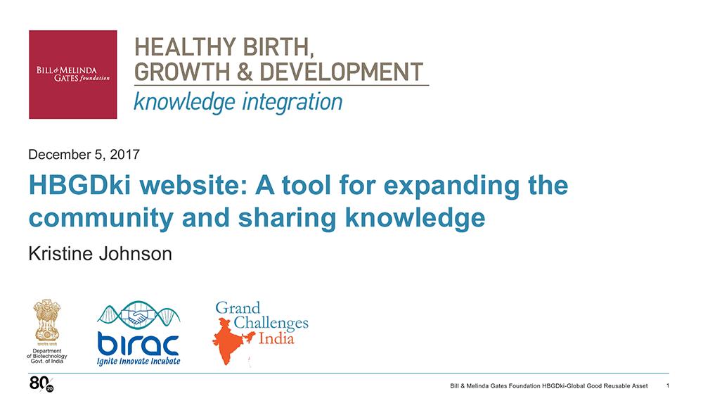 HBGDki Website Presentation