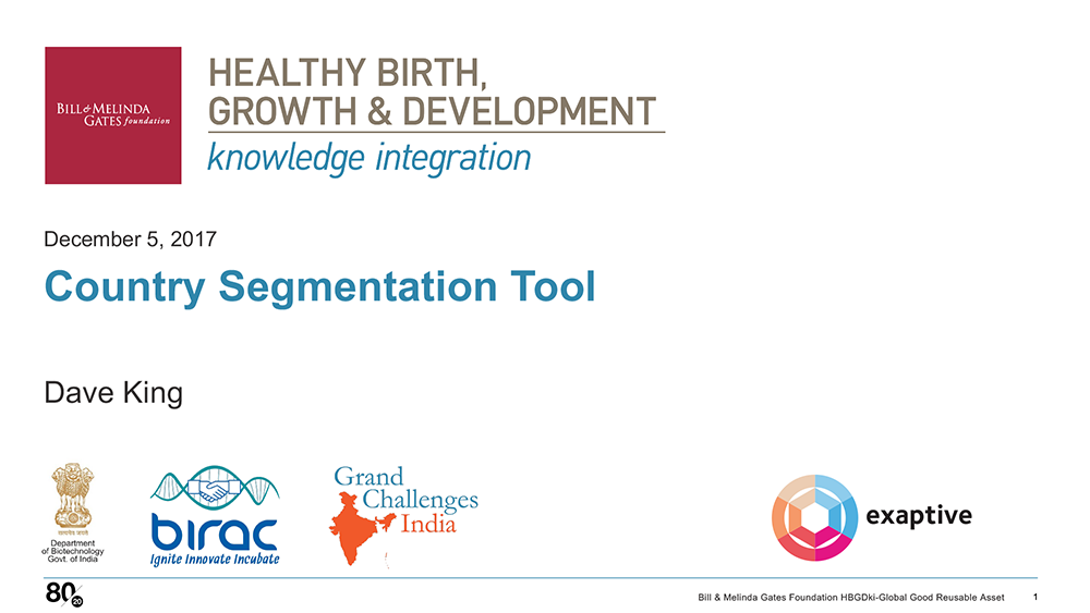 HBGDki Country Segmentation Tool Presentation