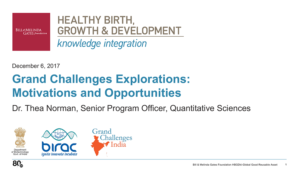 HBGDki Grand Challenges Explorations Presentation Cover