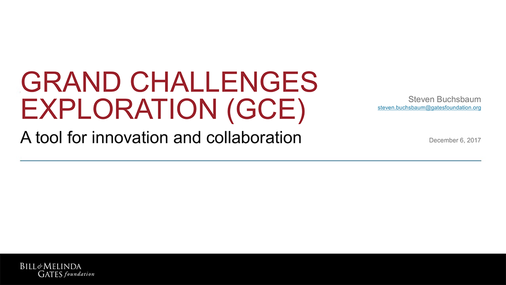 Grand Challenges Exploration Presentation Cover